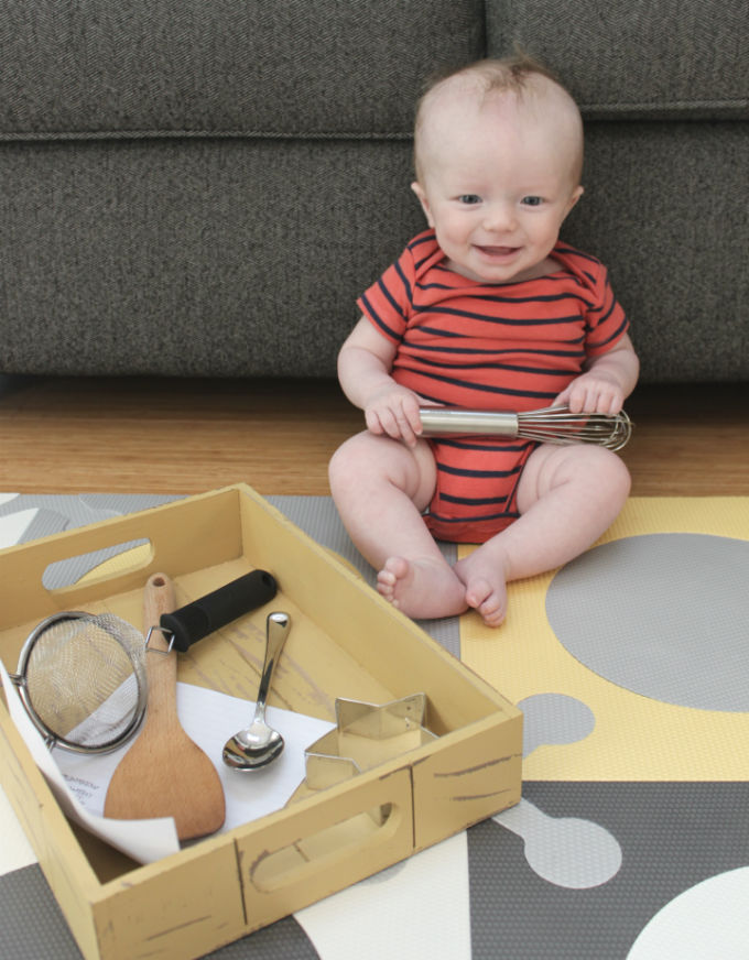 Montessori Inspired Discovery Baskets Infant Toddler Play